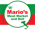 Marios Meat Market and Deli Sticky Logo