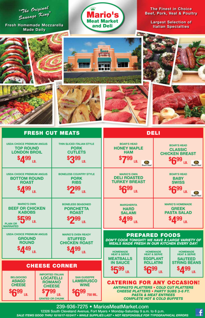 Mario's Meat Market and Deli Weekly Ad
