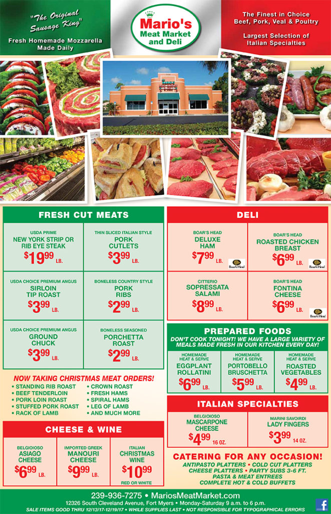 Mario's Meat Market and Deli Weekly Ad