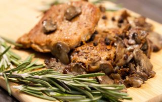 Marios Italian Deli | Pork Steaks with Mushroom Sauce