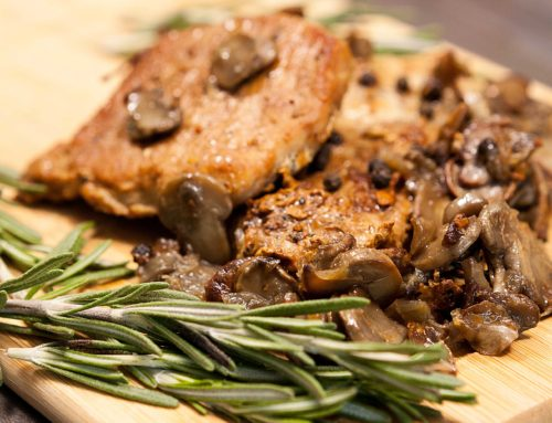 Pork Steaks with Mushroom Sauce