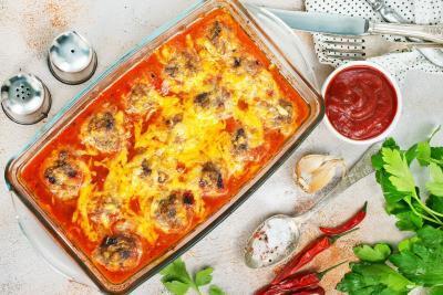 Marios Italian Deli | Oven-Baked Meatball Parmesan