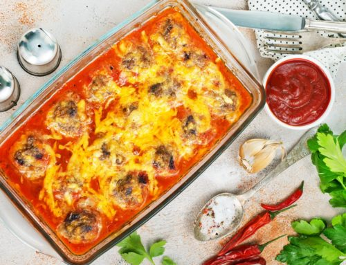 Oven-Baked Meatball Parmesan