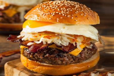 Marios Italian Deli | Picture of a Breakfast Burger