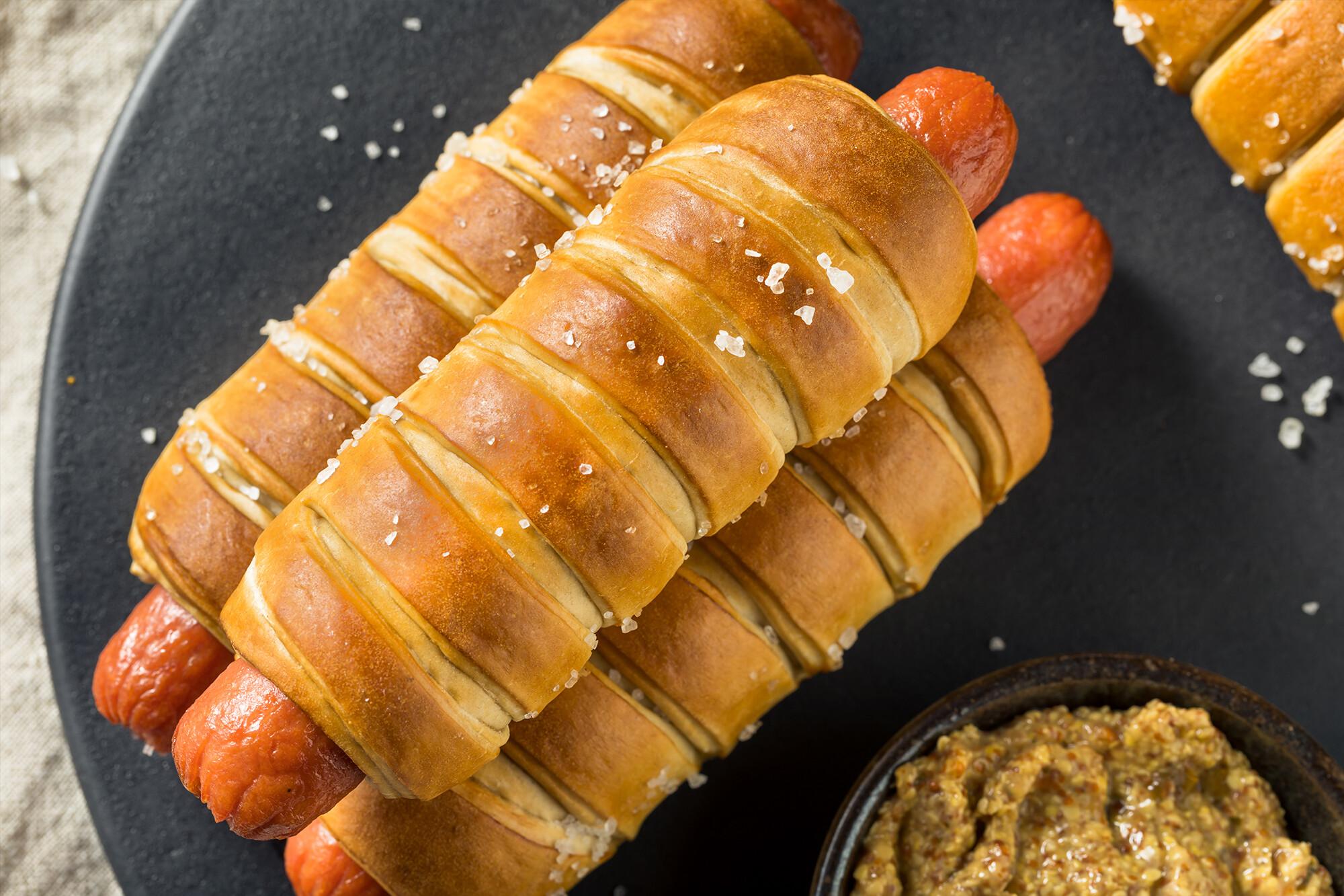 Marios Italian Deli | Picture of Pretzel Hot Dogs