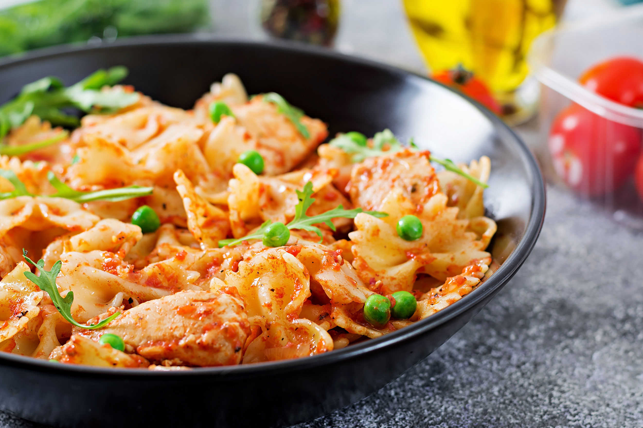 Marios Italian Deli | Picture of Chicken Alla Vodka and Farfalle