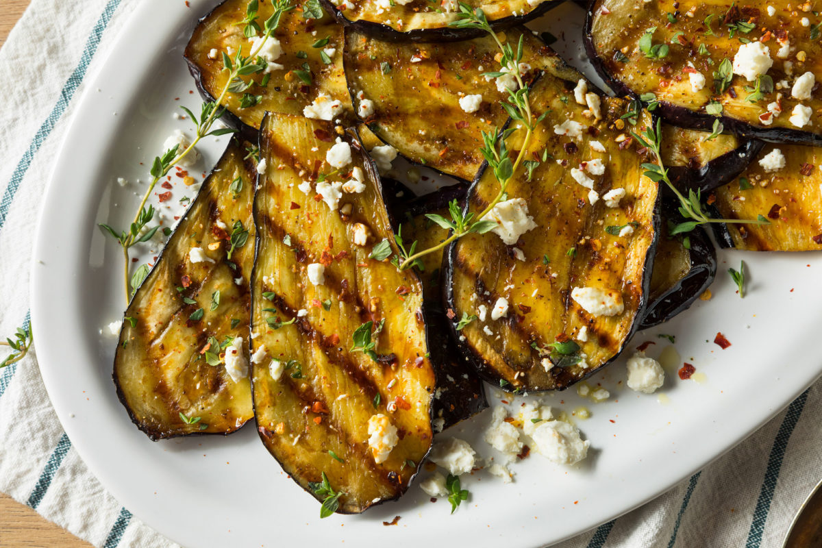 Image of Marios Meat market & Deli | Recipe of Grilled Eggplant and Feta