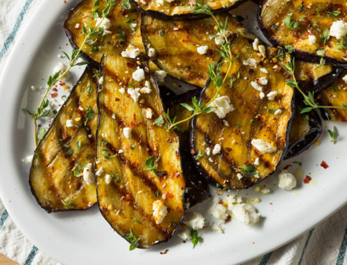 Grilled Eggplant and Feta Cheese