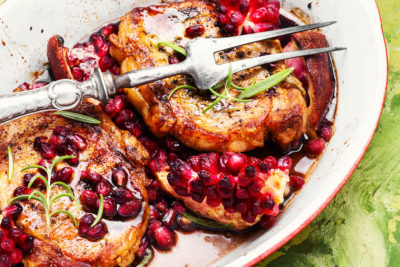 Image of Marios Meat market & Deli   Recipe of Pomegranate Glazed Pork Chops