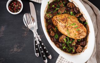 Image of Marios Meat market & Deli   Recipe of Balsamic Chicken with Mushrooms