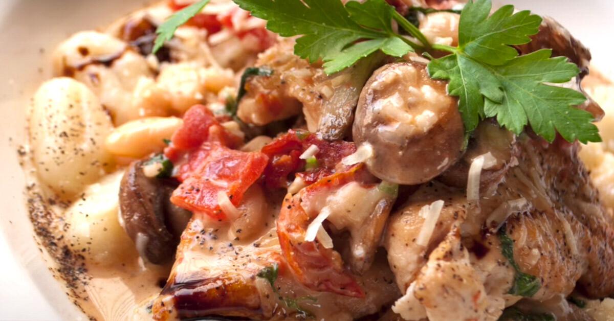 Smoked Chicken & Wild Mushroom Gnocchi
